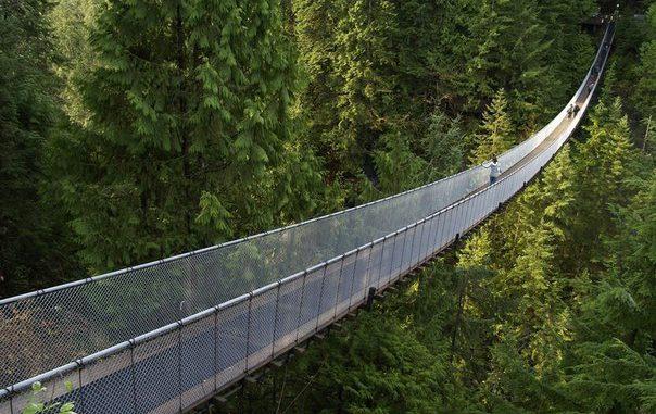 Мост Капилано в канадском городе Ванкувере.