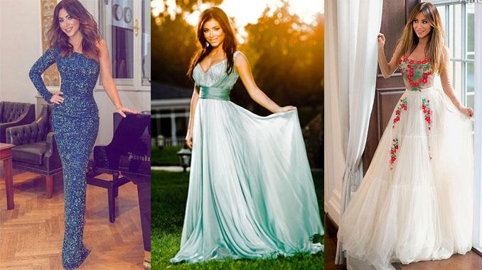 Длинные платья Ани Лорак
