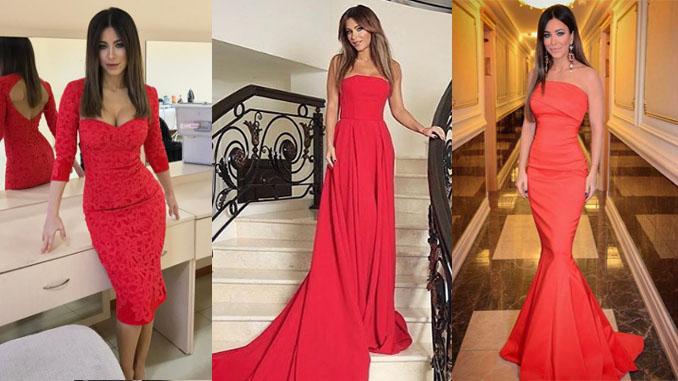 Красные платья Ани Лорак