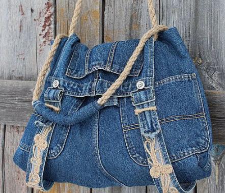 Сделать сумку из джинса