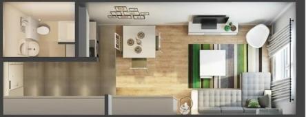 Построили квартиру 18 кв м