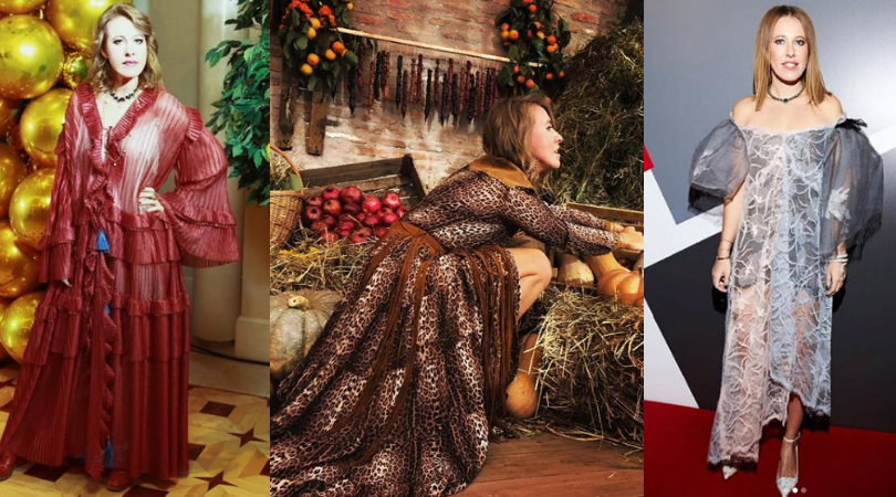 Необычные наряды Ксении Собчак в 2018 году