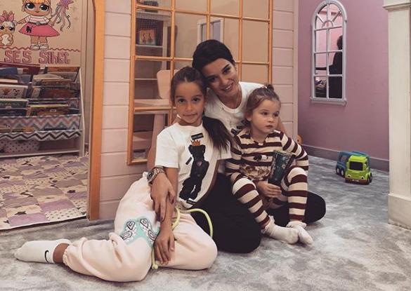Ксения Бородина со своими детьми