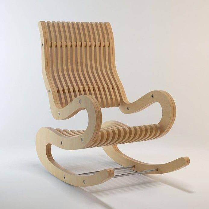 Мебель из фанеры➨Кресло-качалка